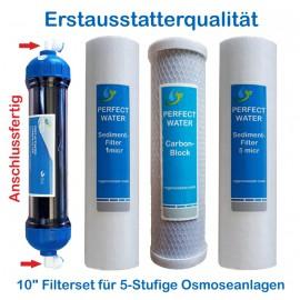 Filterset 10' Sedimentfilter 1 + 5 micr